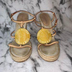 LOUIS VUITTON  Trunks & Bags wedge sandals - 37